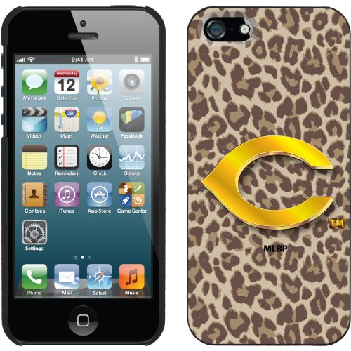 Great Price Cincinnati Reds - Leopard Print design on a Black iPhone 5s / 5 Thinshield Snap-On Case by Coveroo