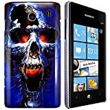 CellBig Blaze Skul Hard Back Case Cover Pouch Mask Wallet Pocket Holster for Your Samsung Galaxy Omnia 7 i8700