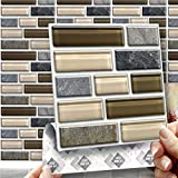 STONE GLASS TABLET EFFECT WALL TILES: Box of 8 tiles Stick and Go Wall Tiles 6