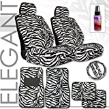 12pc Safari Zebra Car Mats Seat Cover and Steering Wheel Cover Set and a 2 oz Purple Slice Car Wash Free Detailer/Multipurpose Cleaner Reviews