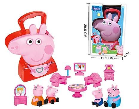 Peppa Pig Series Miniature de meubles jouer poupées jouets pour cadeau d'anniversaire d'enfants filles garçons