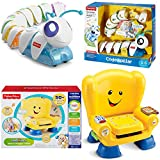Fisher Price Educational Learning Electronics Toys 2-Piece Bundle, Think Laugh & Learn Code a Pillar and Smart Stages Chair