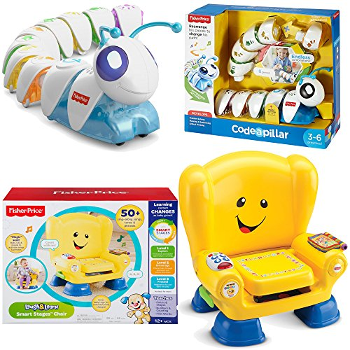 Fisher Price Educational Learning Electronics Toys 2-Piece Bundle, Think Laugh & Learn Code a Pillar and Smart Stages Chair (Fisher Price Puppy Smart Train compare prices)