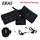 for 3 People Referee BT Intercom FBIM 3set Football Referee Full Duplex Bluetooth Interphone 1200M Synchronous Intercom Paired Wireless
