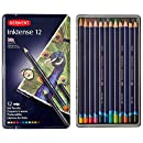 Derwent Drawing Pencils, Inktense, 4mm Core, Metal Tin, Watercolor, 12 Count (0700928)