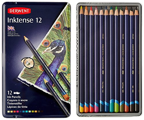 ダーウェント 色鉛筆 インクテンス 12色セット