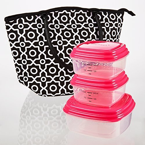 santa-ana-insulated-lunch-bag-kit-with-reusable-container-set-and-ice-pack-black-white-fretwork-by-f