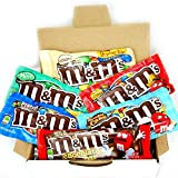 Mini American M&M Hamper Candy/Chocolate/Sweets Christmas/Birthday Gift/Present - in a White Card Box