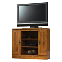 Sauder Harvest Mill Corner Entertainment Stand - Abbey Oak