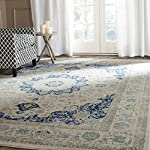 Safavieh Retro Collection RET2144-6570 Modern Abstract Blue and Dark Blue Round Area Rug (8' Diameter)