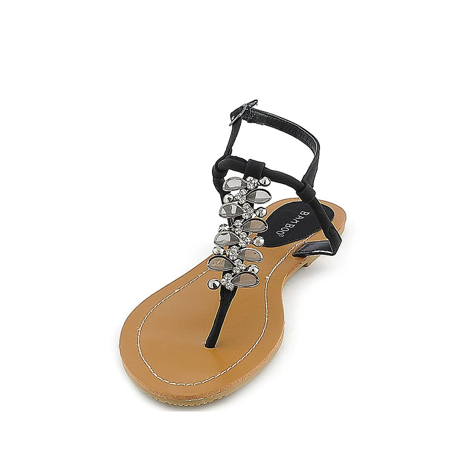 Bamboo Womens Monster-03 Sandal bamboo womens driven 77 casual wedge