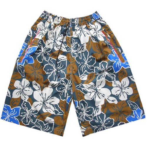 Zip Zap Zooom Mens Flower Board Swim Skate Sports Shorts Surf Retro