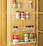 "Rev-A-Shelf 565-8-52 Wall 8"" Door Mount Spice Rack - Wire-White"