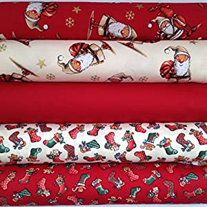 Always Knitting And Sewing Christmas Fat Quarter Bundles 100 % Cotton Fabric Christmas 11 by Always Knitting and Sewing