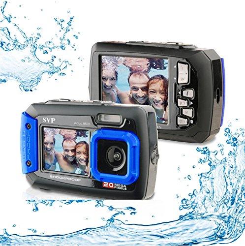 20MP-Waterproof-AQUA-8800-Shockproof-UnderWater-Digital-Camera-Video-recorder-Blue-with-16GB-card-By-SVP