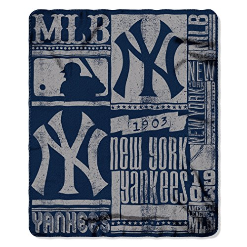 MLB New York Yankees Strength Printed Fleece Throw, 50-inch by 60-inch (Mlb Men Jersey New York compare prices)