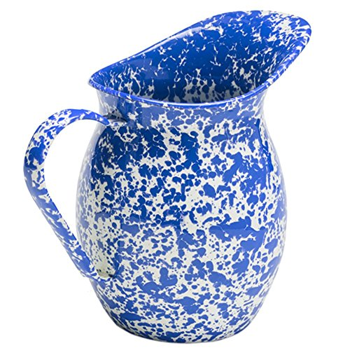 Enamelware Large Pitcher - Blue Marble (The Pitcher And The Crow compare prices)