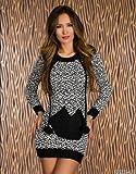 Winter Strickkleid, Farbe:Schwarz;Größe:38