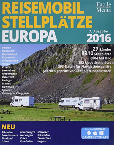 Reisemobil Stellplätze in Europa 2016: 8033 Stellplätze