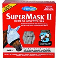 Farnam Central Life 100504652 SuperMask II Classic Horse Fly Mask With Ears