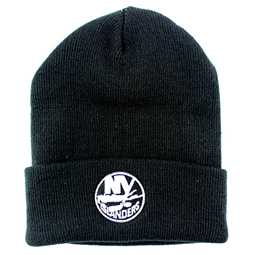 New York Islanders NHL Basic Beanie Cuffed Knit Hat Black (New York Islanders Jacket compare prices)