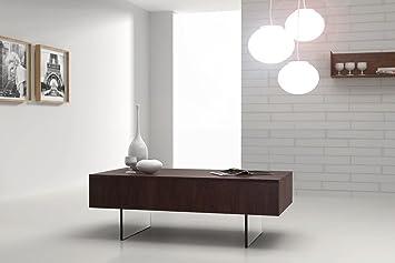 Hochwertiger Design Couchtisch Tisch MN-5 Walnuss / Wenge 2 Schubladen
