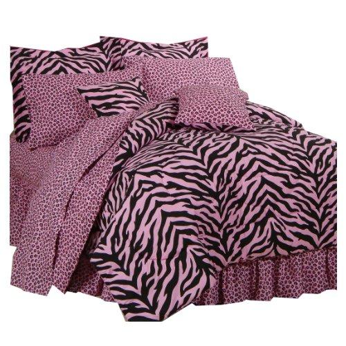 Zebra Hot Pink Bedding front-188332