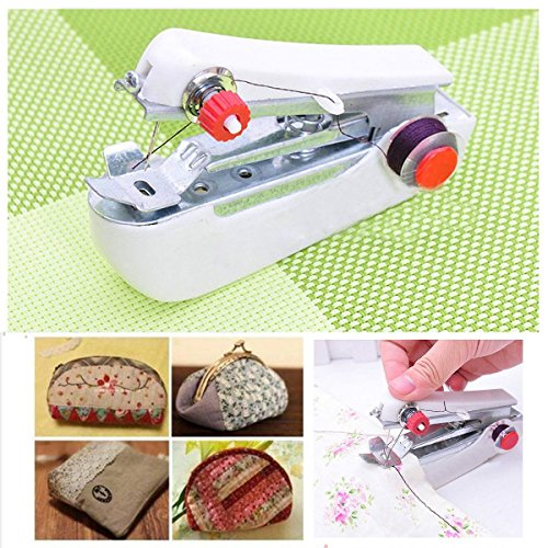 New Mini Multifunction Home & Travel Portable Cordless Hand-held Sewing Machine, Precise stitching control, thread tension control, easy for beginners (Juki Mechanical Sewing Machine compare prices)