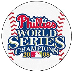 2008 World Series Champion Philadelphia Phillies 29&quot; Round Baseball Floor Mat (Rug)