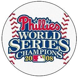 "2008 World Series Champion Philadelphia Phillies 29"" Round Baseball Floor Mat (Rug)"