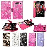 Cellularvilla® Wallet Case for Motorola Droid Razr Hd Xt926 Glitter Pu Leather Wallet Card Flip Open Case Cover Pouch. (Pink Glitter)