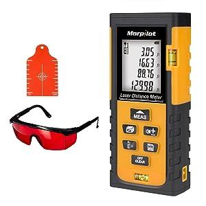 Laser Measure,196ft Laser Tape Measure with Target Plate & Enhancing Glasses, Laser Measuring Device with Pythagorean Mode, Measure Distance, Area, Volume Calculatio (Color: 60M Laser Measure)