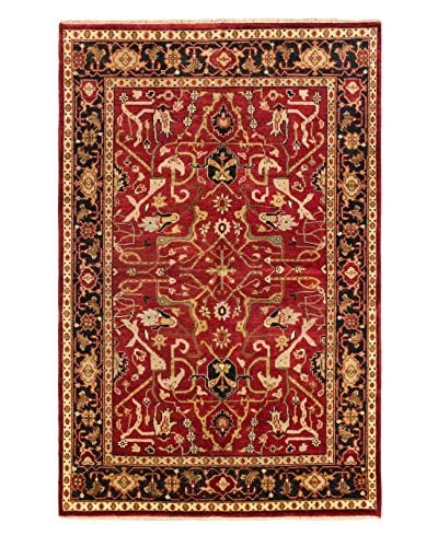 Hand-Knotted Serapi Heritage Wool Rug, Red, 5' 11 x 9'