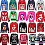 Mens Ladies Novelty Jumper Sweater Re...