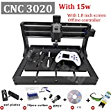 CNC 3020 Engraver Machine GRBL Control Offline Desktop Milling Router DIY Plastic Acrylic PCB PVC Wood Carving Milling Tools (Color: With Offline, Tamaño: 15W)