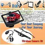 7 Inch Truck Lorry GPS SAT NAV Navigation UK EU Maps POI Speedcam Bluetooth 8GB AV/IN Function + LED IR Reversing camera backup camera