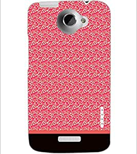 PrintDhaba Heart Pattern D-1905 Back Case Cover for HTC ONE X (Multi-Coloured)