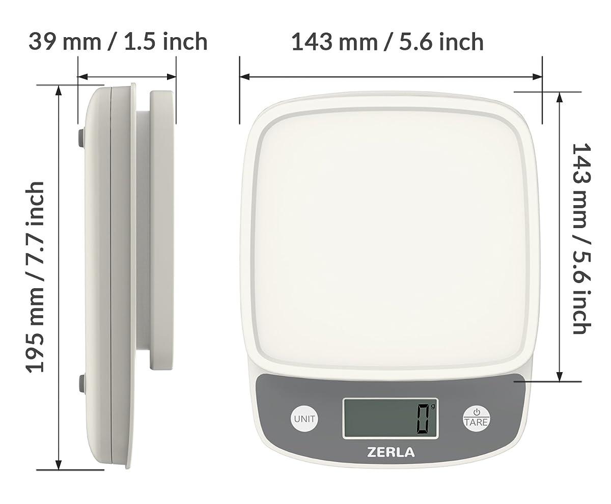 Digital Kitchen Scale By Zerla Versatile Food Scale
