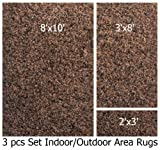 Indoor-outdoor Chocolate , 3 Piece Set, Patio Rug's (8x10 Area Rug, 3x8 Runner, 2x3 Mat)