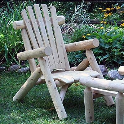 Lakeland Mills Classic Cedar Log Adirondack Chair