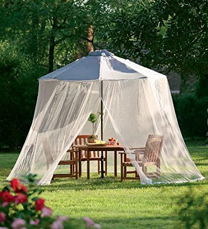 Mosquito Net Canopy Patio Table Outdoor Yard Umbrella ...