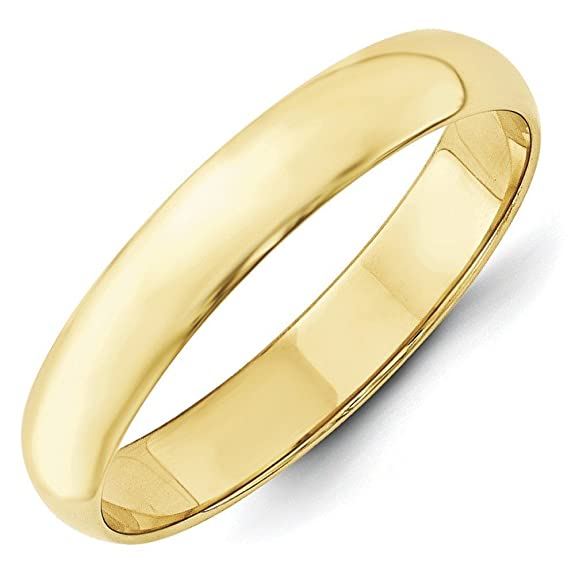 10k Yellow Gold 4mm Ltw Half Round Band Size U 1/2 Ring - Higher Gold Grade Than 9ct Gold