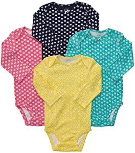 Carter's Baby-girls Long Sleeve Bodysuits (4 Pack) from Carters