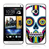 CaseLord Plastic Hard Case Cover for HTC ONE ( M7 ) ( Colorful Sugar Skull Tattoo )