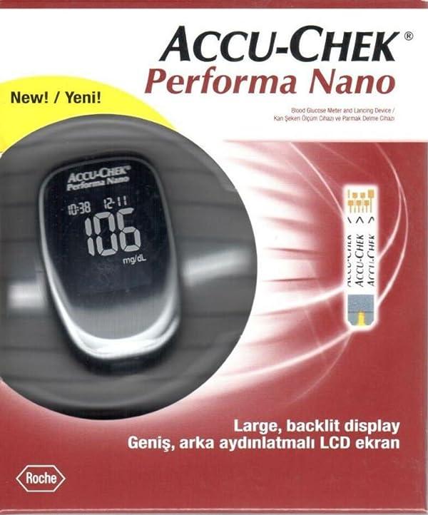Accu Chek Check Performa Nano Glucose Monitor Sugar Level Kit with Softclix Diabetes Test