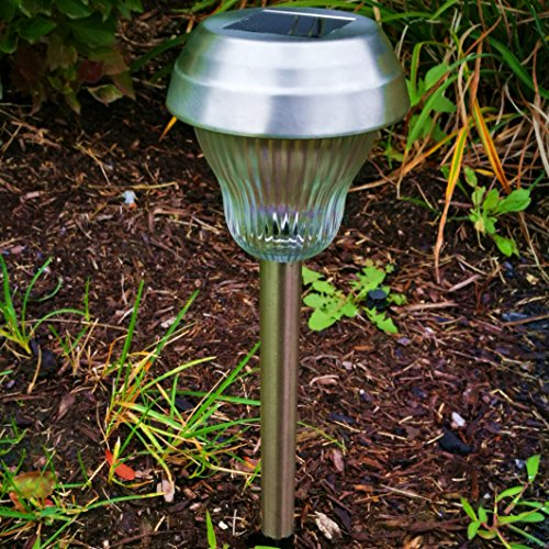 6pack whiteblue dual led galss lens stainless steel solar lights outdoor sogrand solar pathway lights solar landscape lighting solar path lights solar - Solar Pathway Lights