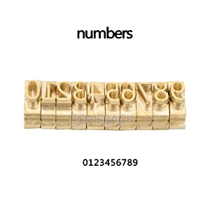 ZONEPACK Copper Brass Stamping Flexible Letters Numbers Alphabets Symbols Characters Molds CNC Engraving Molds for Hot Foil Stamping Machine (Microsoft Elegant Black) (Tamaño: Microsoft Elegant Black)