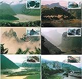 【中国MC/マキシマムカード】1994-18T・長江三峡の風景・6種完(116)