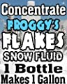 Concentrate Froggys Flakes Snow Juice Machine Fluid - Makes 1 Gallon by Froggys Fog