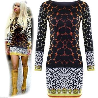 Niki Minhaj Dress Leopard Print Bodycon.